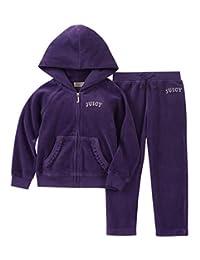 Juicy Couture 女童 2 件套,天鹅绒 紫色 5
