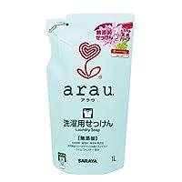 Arau 亲皙 婴儿植物性洗衣液 天竺葵精油配方 替换装 1000ml