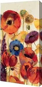 """PrintArt GW-POD-38-6455-12x24""""Joyful Garden Panel II"""" 由 Silvia Vassileva 创作画廊装裱艺术微喷油画艺术印刷品 8"""" x 16"""" GW-POD-38-6455-8x16"""