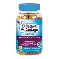 Schiff Digestive Advantage 成人益生菌軟糖 80粒,不含麩質,多種水果口味