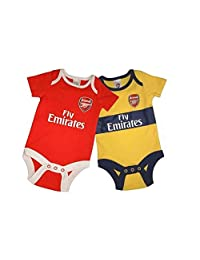 Arsenal FC 可爱婴儿连体衣 2 件装 - 正品 EPL