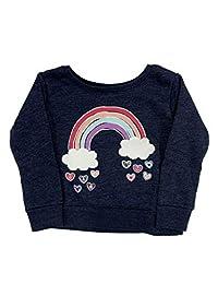 Infant & Toddler 女童*蓝混色彩虹心形图案运动衫上衣婴儿