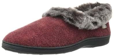 Acorn 女士 Faux Chinchilla Collar 拖鞋 Crackleberry 5-6 M US