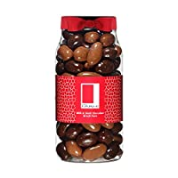 Rita Farhi Milk and Dark Chocolate Covered Brazil Nuts in a Gift Jar, 740g