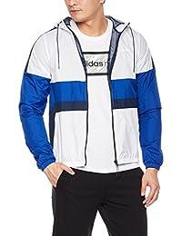 adidas NEO 阿迪达斯运动生活 男式 NEO 防风衣 CZ1772 白/学院藏青蓝 M WND BRKR CB