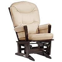 Dutailier Round Back Cushion Modern Glider, Beige Microfiber
