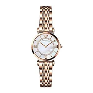 ARMANI 阿玛尼 意大利品牌 时尚镶钻满天星系列珍珠贝母石英女士手表 AR1909