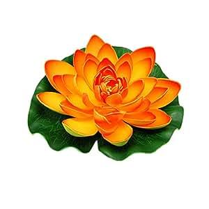 Jardin 水族箱花园池塘浮动莲花装饰 橙色