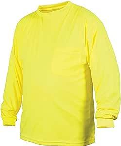 Pyramex Lumen X 长袖 T 恤,高维斯绿黄色 3X-Large RLTS3110NSX3