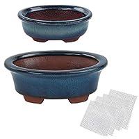 Happy Bonsai 小釉锅,超值 2 个装 + 4 个软网排水滤网