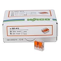 kopp 33346427wago plug-in 终端 Triple 带拉杆适用于弹性 wires wiederöffenbar 1.5–2.5mm ² 一包50/ 透明 / 橙色