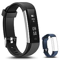 LYOU 健身追踪器,健身手表:活动追踪器智能蓝牙腕带带带*监控器和替换腕带 兼容 Android 或 iOS