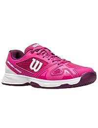 Wilson 少年 Rush Pro 2.5 草莓色/紫色/白色女孩网球鞋