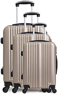 Hero Lipari 行李箱套装,76 cm,194 升,米色(香槟色)