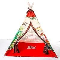 木马智慧 儿童玩具室内游戏屋 可升高165cm 带防潮垫卡通可可蒙印第安儿童帐篷 31008