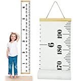 ONYADD 婴儿成长图手绘尺墙面装饰儿童高记录高胶带儿童育儿室帆布可拆卸卷起卷起 79x7.6 cm 白色