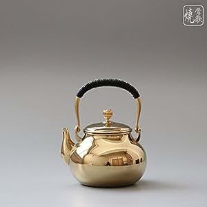 莺歌烧 宝珠 梨形提梁 金面壶 创意茶壶 不锈钢烧水壶 泡茶壶