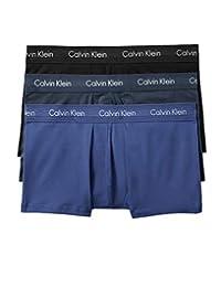 Calvin Klein 男式 彈力棉低腰平角內褲 多條裝