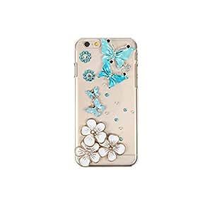 智能手机壳 透明 3D 装饰 套 透明壳 硬质 装饰 定制 壳wn-0060474-wy Galaxy S3α SC-03E ブルーバタフライ