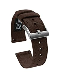 Barton Watch Bands Fabric Chocolate Brown CANQRBRWN23 表带