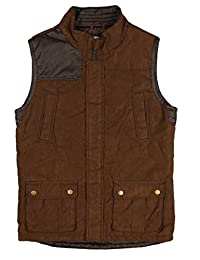 Class Club 男童麂皮超细纤维拉链背心外套