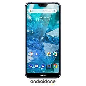 Nokia 7.1 - Android One (Pie) - 64 GB - 12+5 MP 双摄像头 - 双卡未锁定的智能手机TA-1085 B 蓝色