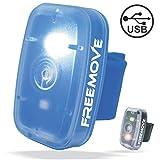FREEMOVE Led *灯高可见度跑步自行车齿轮 USB 充电,4 闪烁模式,防水夹在跑步灯或宠物项圈上,自行车尾警告灯,登山头盔灯