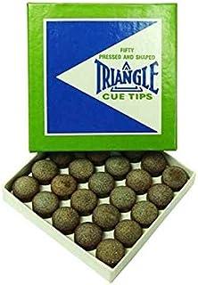 标准游戏粗粒面皮革三角形 13 mm 球杆头(50 个盒)
