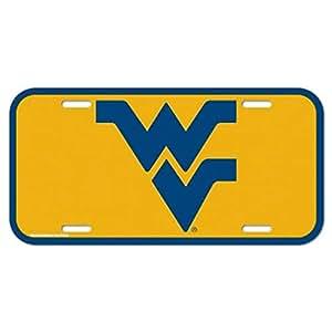 West Virginia Mountaineers Plastic License Plate