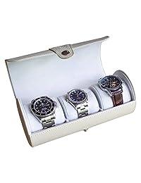 限量款奶白色皮质圆筒手表收纳盒,case Elegance出品
