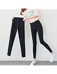 夷榀 2018新款夏季黑色打底裤女士外穿薄款春秋学生韩版小脚魔术裤子女