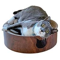 Necoichi 舒适猫爬架碗(深樱桃色)