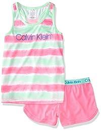 Calvin Klein 女童 2 件套睡衣套装 Pop Tie Dye X-Large