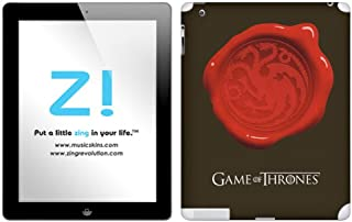 Zing Revolution Game of Thrones Premium Vinyl Adhesive Skin for iPad 2/iPad 3, Targaryen Seal Image, MS-GOT280351