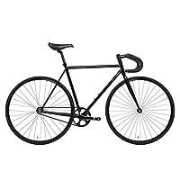 State Bicycle 4130 - 哑光黑色 | 双锁级铬钼钢 - 固定齿轮/单速 | 59 厘米落杆
