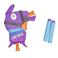 Nerf Fortnite Llama Nerf MicroShots 射镖玩具玩具枪和 2 个官方 Nerf Elite 飞镖,适用于儿童、青少年、成人