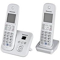 Panasonic松下 KX-TG6822GS DECT - 无绳电话,图形显示屏带电话答录机 perl-silber Duo mit Anrufbeantworter