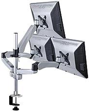 Mount-it! 高度可调节三台显示器台面弹簧臂快速释放/安装 (MI-55116)