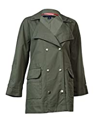 Tommy Hilfiger 女士双口袋实用夹克 [M] [Dusty Olive]