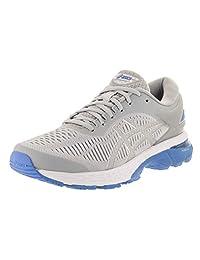 ASICS 女式 gel-kayano 25跑步鞋 Mid Grey/Bluecoast 11 B(M) US