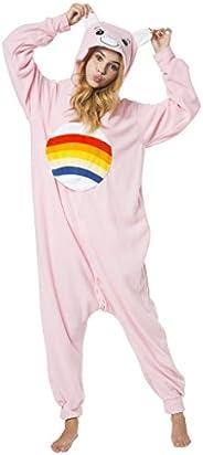 可爱毛茸茸 care Bear 连体衣, fleecy 连身衣裤,中性款服装适用于成人, pyjama 派对家居服,卡通角色扮演–各种款式和尺寸