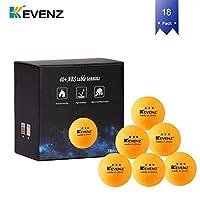 KEVENZ 50 只装 3 星 40 毫米白乒乓球,高级锦标赛 Ping 乒乓球(锦标赛 ping-Pong 球)