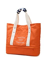 iSuperb 旅行包帆布大码手提包单肩手提包旅行包 54.61x36.83cm