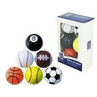 PGA Tour Novelty Fun Sports Golf Balls (Set of 6)