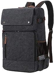BAOSHA BC-08 三合一多功能男式公文包 帆布背包 笔记本电脑背包 15.6 英寸帆布43215-11186 大