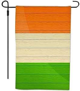 Rikki Knight 爱尔兰国旗仿古木设计装饰房屋或花园全出血旗,30.48 x 45.72 厘米
