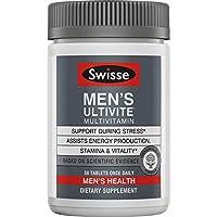 Swisse Premium Ultivite 男士每日多种维生素 | 维生素A,维生素C,维生素D,生物素,钙,锌等 | 50片