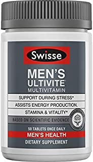 Swisse Premium Ultivite 男士每日多種維生素 | 維生素A,維生素C,維生素D,生物素,鈣,鋅等 | 50片