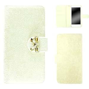 whitenuts 保护壳 手册式 丝带装饰WN-OD081670 10_ Disney Mobile on SoftBank DM016SH 白色