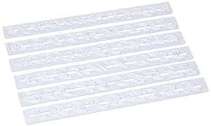 Pati-Versand 白色塑料面团刮刀 12308 字母切割机 33 x 9 x 2 厘米